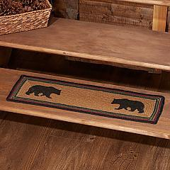 Wyatt Stenciled Bear Jute Stair Tread Rect Latex 8.5x27