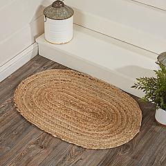 Natural Jute Rug Oval w/ Pad 20x30