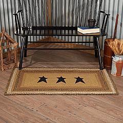 Kettle Grove Jute Rug Rect Stencil Stars w/ Pad 27x48