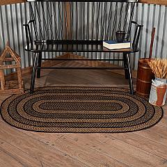 Farmhouse Jute Rug Oval w/ Pad 36x60