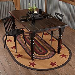 Landon Jute Rug Oval Stencil Stars w/ Pad 60x96