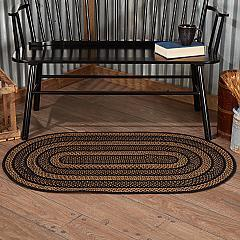 Farmhouse Jute Rug Oval w/ Pad 27x48