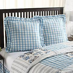 Annie Buffalo Blue Check Fabric Euro Sham 26x26