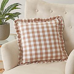 Annie Buffalo Portabella Check Ruffled Fabric Pillow 18x18