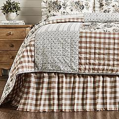 Annie Buffalo Portabella Check King Bed Skirt 78x80x16