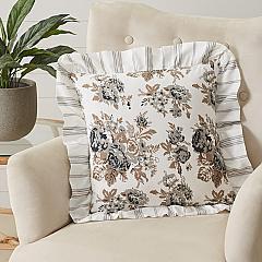 Annie Portabella Floral Ruffled Pillow 18x18