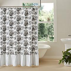 Annie Portabella Floral Ruffled Shower Curtain 72x72