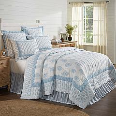 Avani Blue King Quilt 105Wx95L