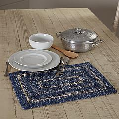 Great Falls Blue Jute Rect Placemat 12x18