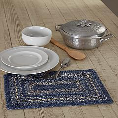 Great Falls Blue Jute Rect Placemat 10x15