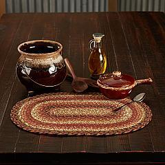 Ginger Spice Jute Oval Placemat 12x18