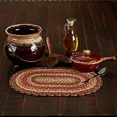 Ginger Spice Jute Oval Placemat 10x15