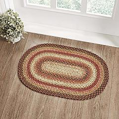 Ginger Spice Jute Rug Oval w/ Pad 20x30