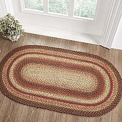 Ginger Spice Jute Rug Oval w/ Pad 27x48