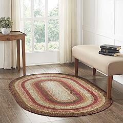 Ginger Spice Jute Rug Oval w/ Pad 48x72