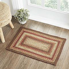 Ginger Spice Jute Rug Rect w/ Pad 20x30