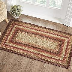 Ginger Spice Jute Rug Rect w/ Pad 27x48