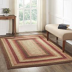 Ginger Spice Jute Rug Rect w/ Pad 60x96