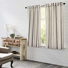 Grace Grain Sack Stripe Short Panel Set of 2 63x36