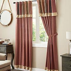 Maisie Panel with Attached Patch Valance Set of 2 84x40