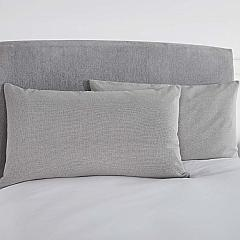 Burlap Dove Grey King Sham 21x37