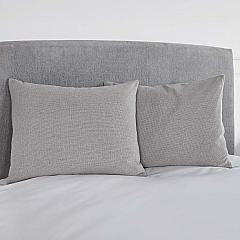 Burlap Dove Grey Standard Sham 21x27