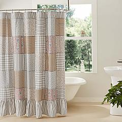 Kaila Patchwork Shower Curtain 72x72