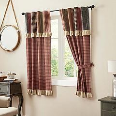 Maisie Short Panel with Attached Patch Valance Set of 2 63x36