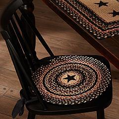 Colonial Star Jute Chair Pad Applique Star