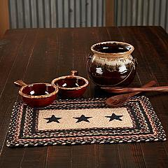 Colonial Star Jute Rect Placemat 12x18