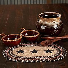 Colonial Star Jute Oval Placemat 10x15