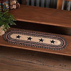 Colonial Star Jute Stair Tread Oval Latex 8.5x27