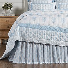 Avani Blue King Bed Skirt 78x80x16