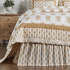 Avani Gold King Bed Skirt 78x80x16