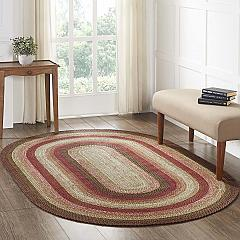Ginger Spice Jute Rug Oval w/ Pad 60x96