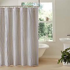 Kaila Ticking Stripe Shower Curtain 72x72
