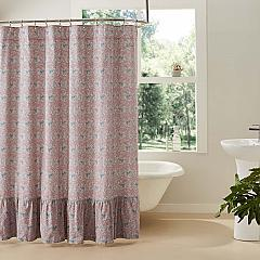Kaila Floral Ruffled Shower Curtain 72x72