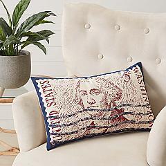 George Washington Pillow 14x22