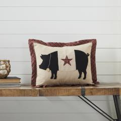 Cider Mill Primitive Pig Pillow 14x18