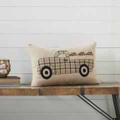 Cider Mill Applique Apple Truck Pillow 14x22