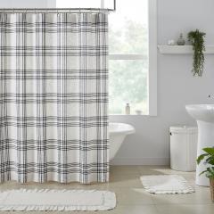 Black Plaid Shower Curtain 72x72
