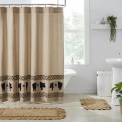 Cider Mill Primitive Pig Shower Curtain 72x72
