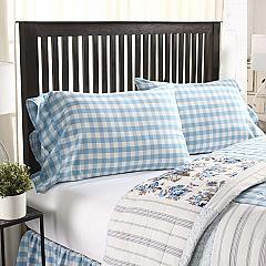 Annie Buffalo Blue Check Standard Pillow Case Set of 2 21x30+4