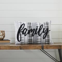 Sawyer Mill Black Family Pillow 14x22
