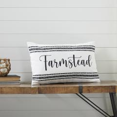 Sawyer Mill Black Farmstead Pillow 14x22
