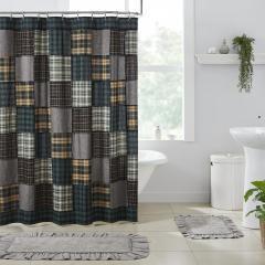 Pine Grove Patchwork Shower Curtain 72x72