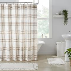 Wheat Plaid Shower Curtain 72x72
