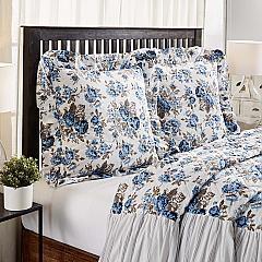 Annie Blue Floral Fabric Euro Sham 26x26