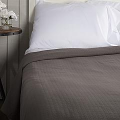 Serenity Grey Queen Cotton Woven Blanket 90x90