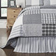 Sawyer Mill Black King Bed Skirt 78x80x16